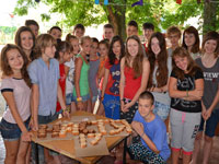 Скалодром в лагере, смена I/2012