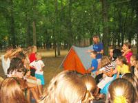 спортивные мероприятия в лагере Лiсова Пiсня